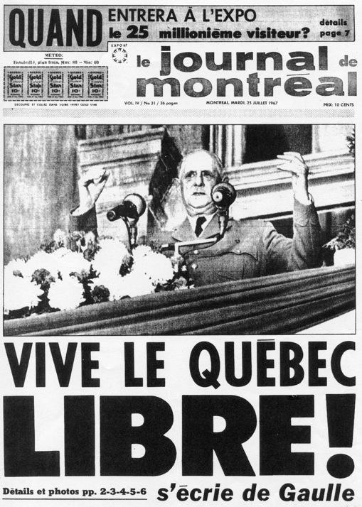 """Résultat de recherche d'images pour """"PHOTOS DE GAULLE A MONTREAL EN 1967"""""""
